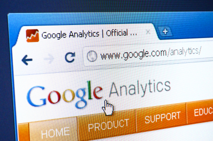 Google Analytics webpage on the browser